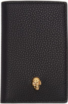 Alexander McQueen Black Leather Skull Wallet