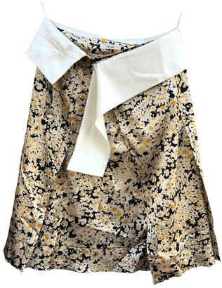Celine Beige Silk Skirt for Women
