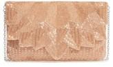 La Regale Beaded Petal Flap Clutch - Metallic