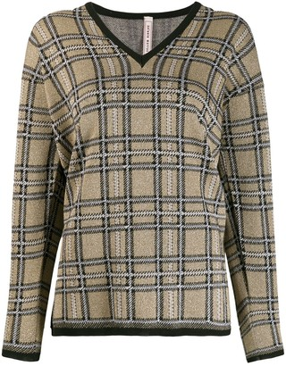 Antonio Marras Plaid Knit Sweater