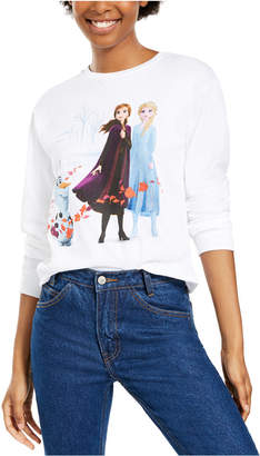 Disney Juniors' Long-Sleeve Cotton Frozen Graphic T-Shirt