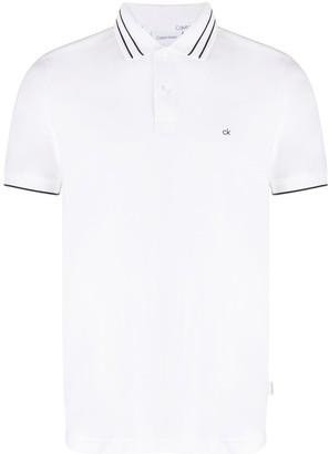 Calvin Klein Contrast Trim Short-Sleeved Polo
