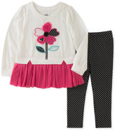 Kids Headquarters 2-Pc. Flower-Graphic Tunic and Leggings Set, Toddler and Little Girls (2T-6X)
