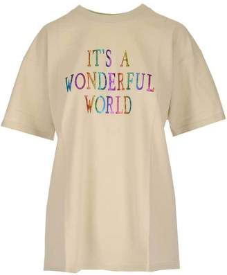 Alberta Ferretti Slogan Print Oversize T-Shirt