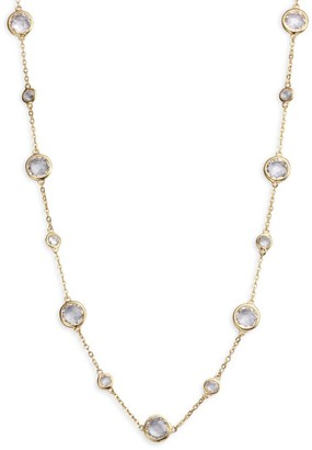 Adriana Orsini Stationed Bezel-Set Necklace