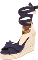 Castaner Fringed Canvas Wedges