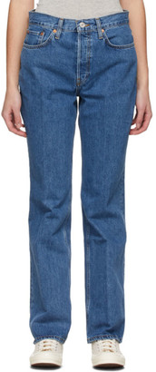 RE/DONE Blue 70s Bootcut Jeans