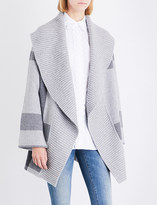 Burberry Checked wool-blend cape