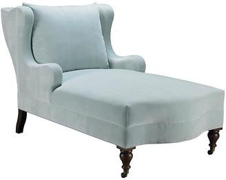 Mr & Mrs Howard Montclaire Chaise - Light Blue Velvet