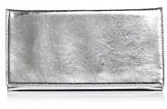 Aqua Metallic Foldover Clutch - 100% Exclusive
