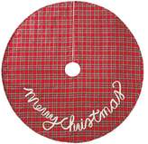 Mud Pie Tartan Plaid Christmas Tree Skirt