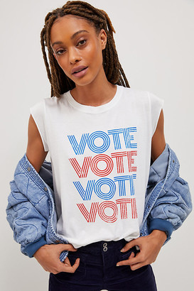 good hYOUman VOTE Graphic Tee By in White Size XS