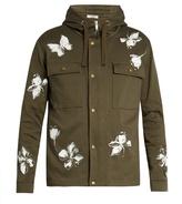 Valentino Mariposa Cotton Hooded Jacket