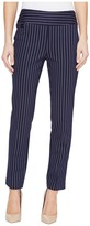 Lisette L Montreal - Tailored Stripe Hollywood Print Ankle Pants Women's Casual Pants