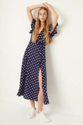 French Connection Polka Dot Midi Tea Dress