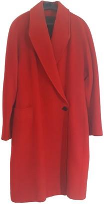 Genny Red Wool Coat for Women Vintage