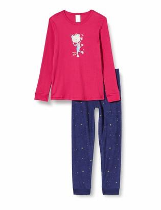 Schiesser Girl's Cat Zoe Md Schlafanzug Lang Pajama Set