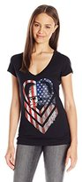 Metal Mulisha Juniors' Chevy Americana Graphic V-Neck T-Shirt