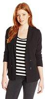 XOXO Women's Rib Insert Blazer Jacket