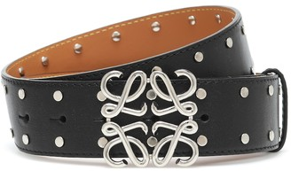 Loewe Anagram studded leather belt