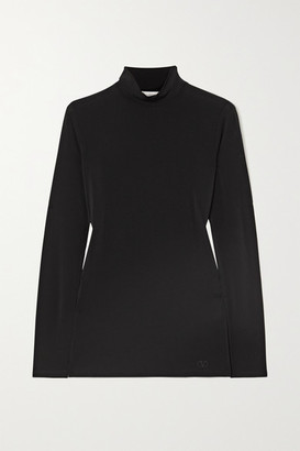 Valentino Stretch-knit Turtleneck Sweater - Black