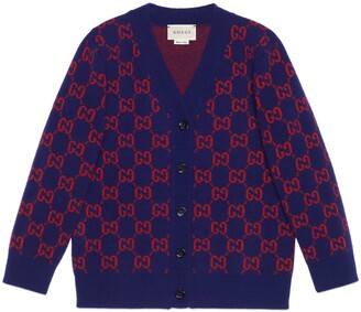 Gucci Children's GG wool cardigan