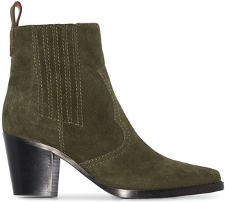 Ganni western-style ankle boot