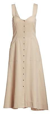 A.L.C. Women's Varelli Button-Front Midi Dress - Size 0