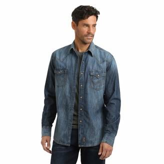 Wrangler Men's Big & Tall Retro Two Pocket Long Sleeve Snap Shirt