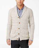 Tasso Elba Men's Textured Shawl-Collar Cardigan, Only at Macy's