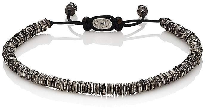 M. Cohen Men's Silver Discs On Cord Bracelet