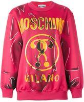 Moschino trompe-l'œil logo sweatshirt