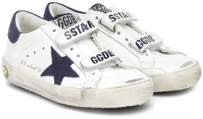 Golden Goose Kids Old School leather sneakers