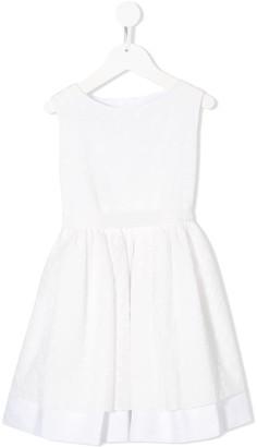 La Stupenderia broderie anglaise sleeveless A-line dress