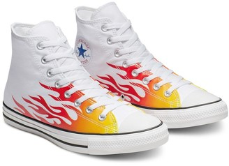 Converse Chuck Taylor All Star Hi Archive Flame print sneakers in white