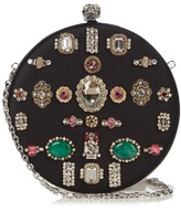 Alexander McQueen Crystal-embellished satin box clutch