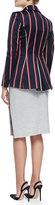 Altuzarra Bold-Striped Tailored Blazer, Navy/Red/White