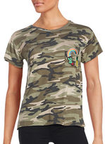 Honey Punch Cap-Sleeve Camouflage T-Shirt