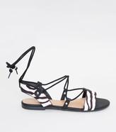 Tie Up Sandal Black ShopStyle Australia