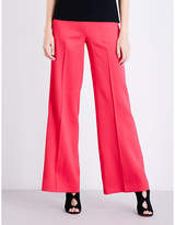 Oscar de la Renta Wide-leg stretch-crepe trousers