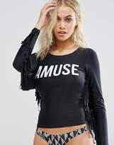 Amuse Society Logo Fringe Rash Vest