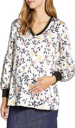 Maternal America Bishop Sleeve Maternity Blouse
