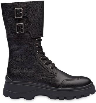 Miu Miu Side Buckle Chunky Boots