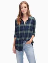 Splendid Eastridge Rayon Plaid Shirt