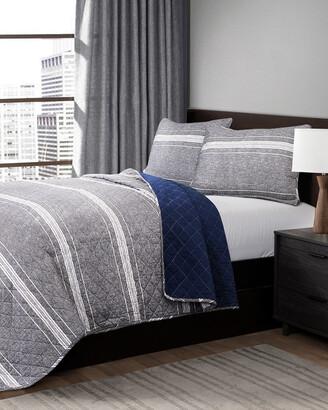 Triangle Home Fashion Marlton Stripe Quilt Set