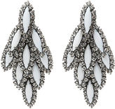 Elizabeth Cole Bacall Earrings, White, Crystal 1 ea