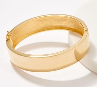 Gold One 1K Gold Bold Polished Hinged Bangle