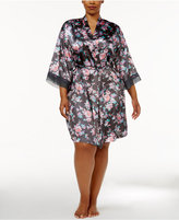 Thalia Sodi Plus Size Printed Kimono Wrap Robe, Only at Macy's
