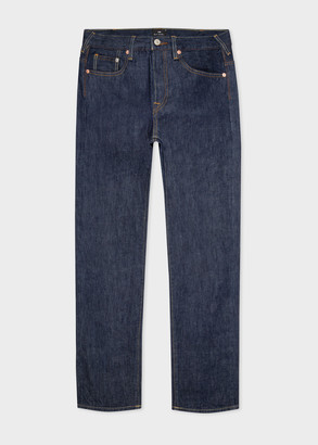 Paul Smith Men's Standard-Fit Indigo Denim 'Cone Red Selvedge' Jeans
