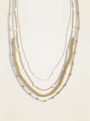 Old Navy Layered Multi-Bead Statement Necklace for Women